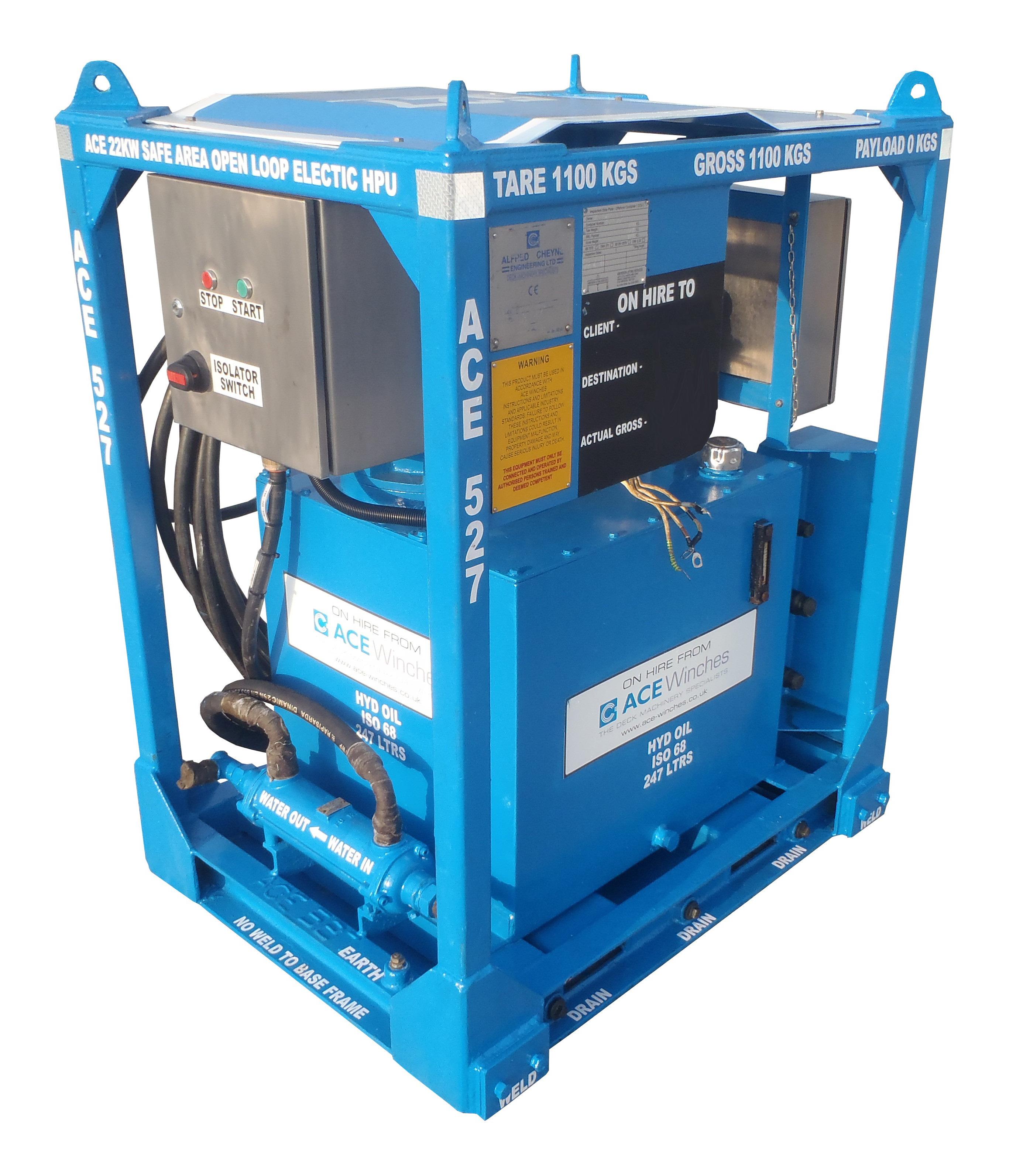ACE 22kW Safe Area Open Loop Electric HPU