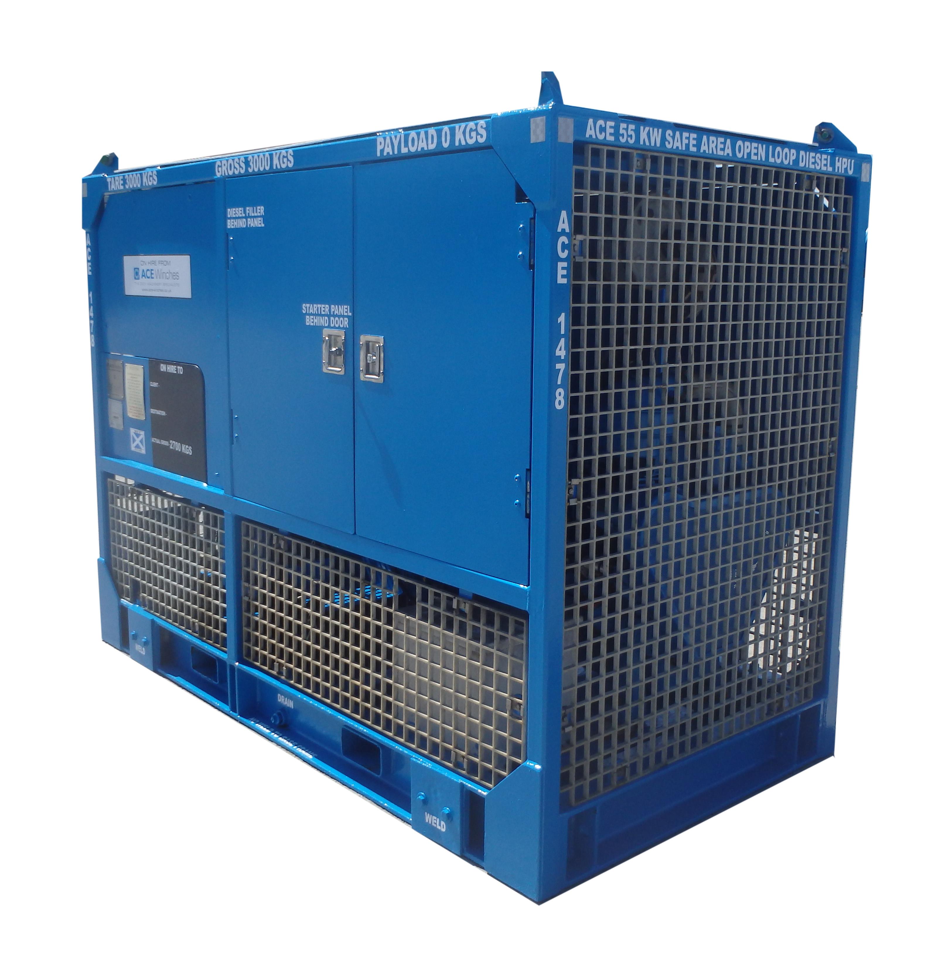 ACE 55kW Safe Area Open Loop diesel HPU