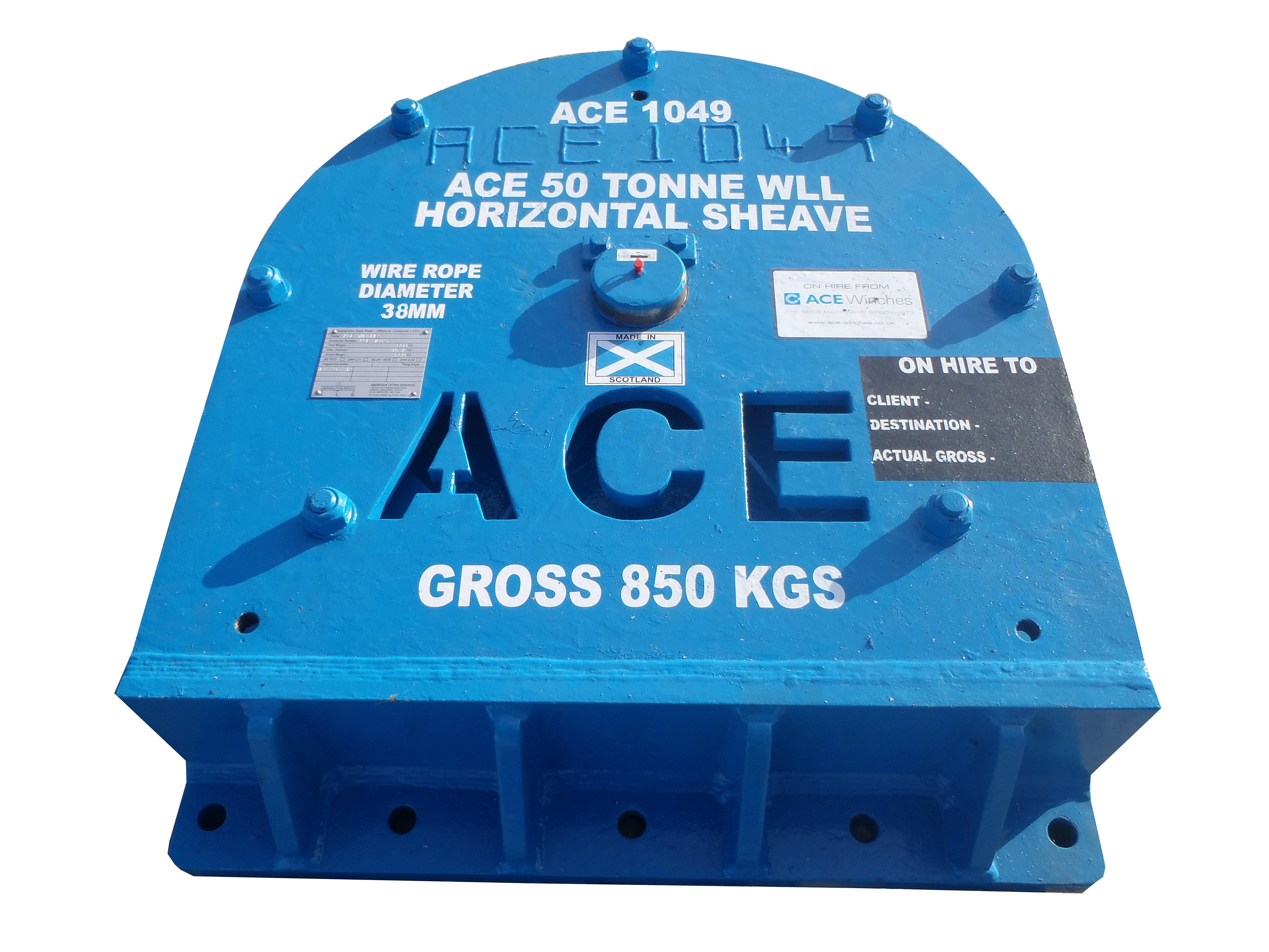 ACE 50 Tonne SWL at 90 Degrees Zone 2 Horizontal Sheave
