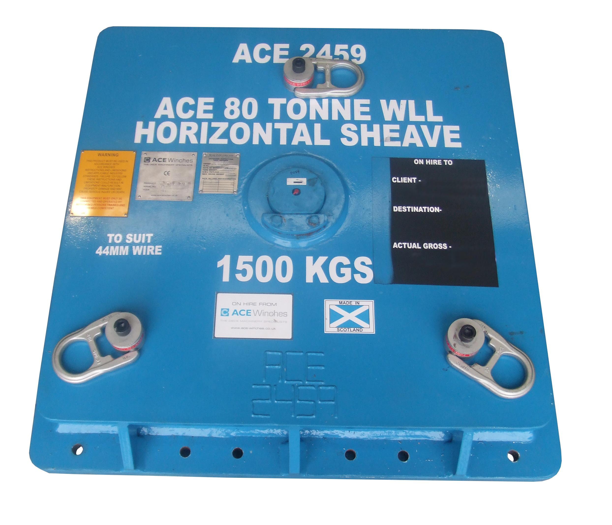 ACE 80 Tonne SWL at 90 Degrees Horizontal Sheave