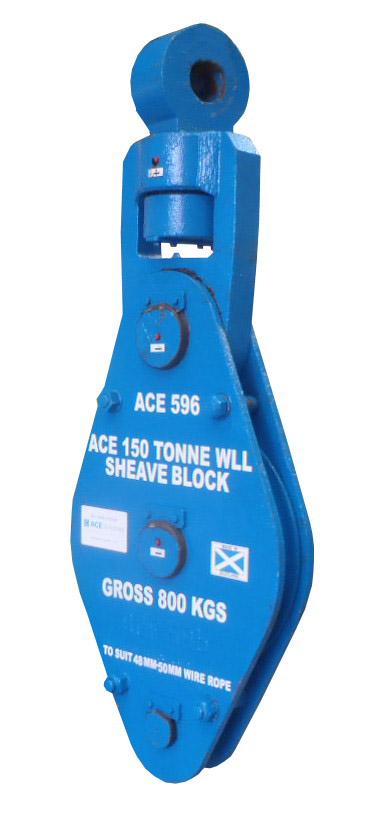 ACE 75 Tonne SWL at 180 Degrees Sheaveblock