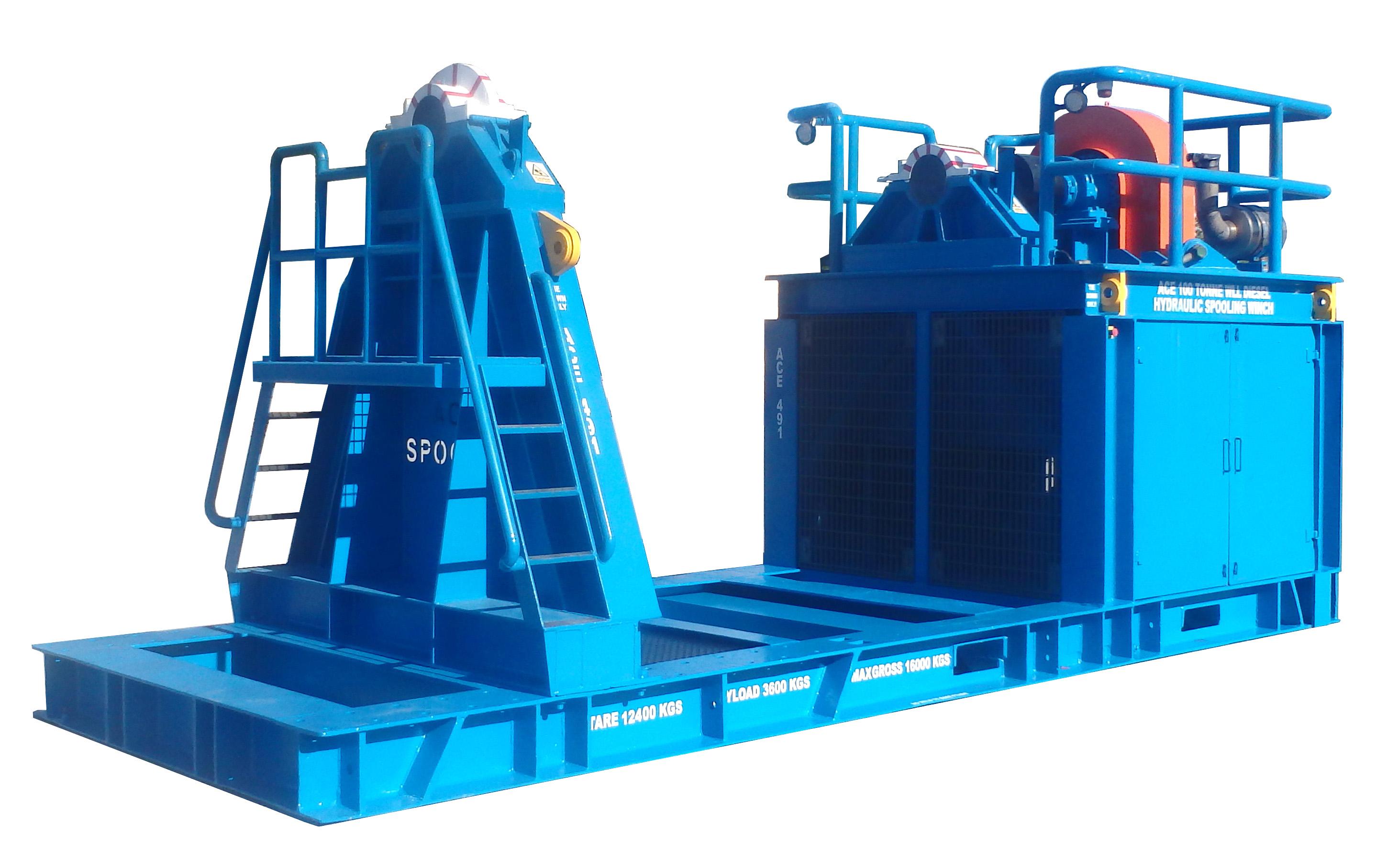 ACE 100 Tonne SWL Diesel Hydraulic Spooling Winch